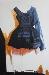 "'The Black Wedding Dress', 36"" x 24"""