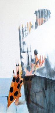 'Disappearing Polka', 100cm x 50cm