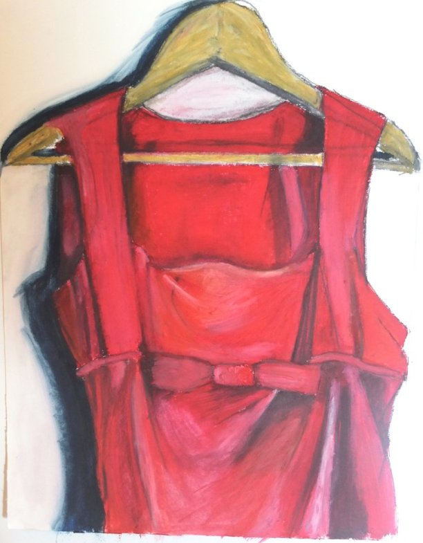 Red Wedding Dress- 40cm x 30cm